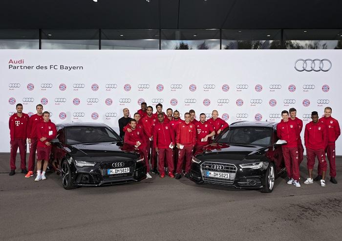 Nowe modele AUDI dla piłkarzy Bayernu Monachium