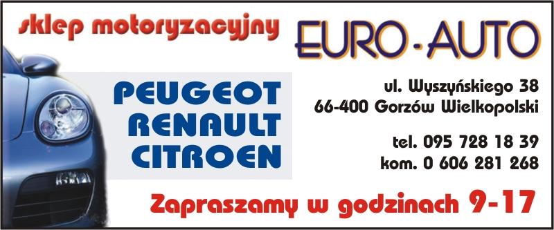 logo EURO AUTO CZĘŚCI ZAMIENNE DO SAMOCHODÓW PEUGEOT CITROEN RENAULT GORZÓW WIELKOPOLSKI